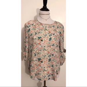 b0991e39b9a Pink Republic Tops - Pink Republic Sm Floral Blouse Tunic 3/4 Sleeve